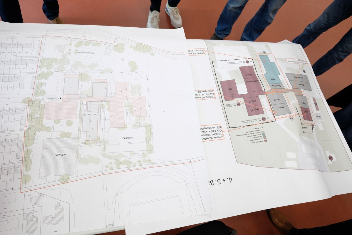 Ortstermin an der dritten Gesamtschule in Gütersloh