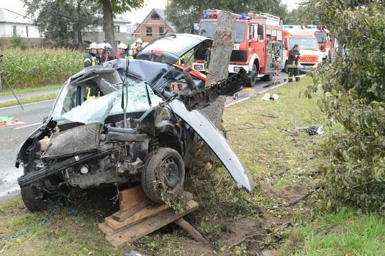 Ein Mann ist am Freitag bei einem Unfall auf der Bokeler Straße gestorben.