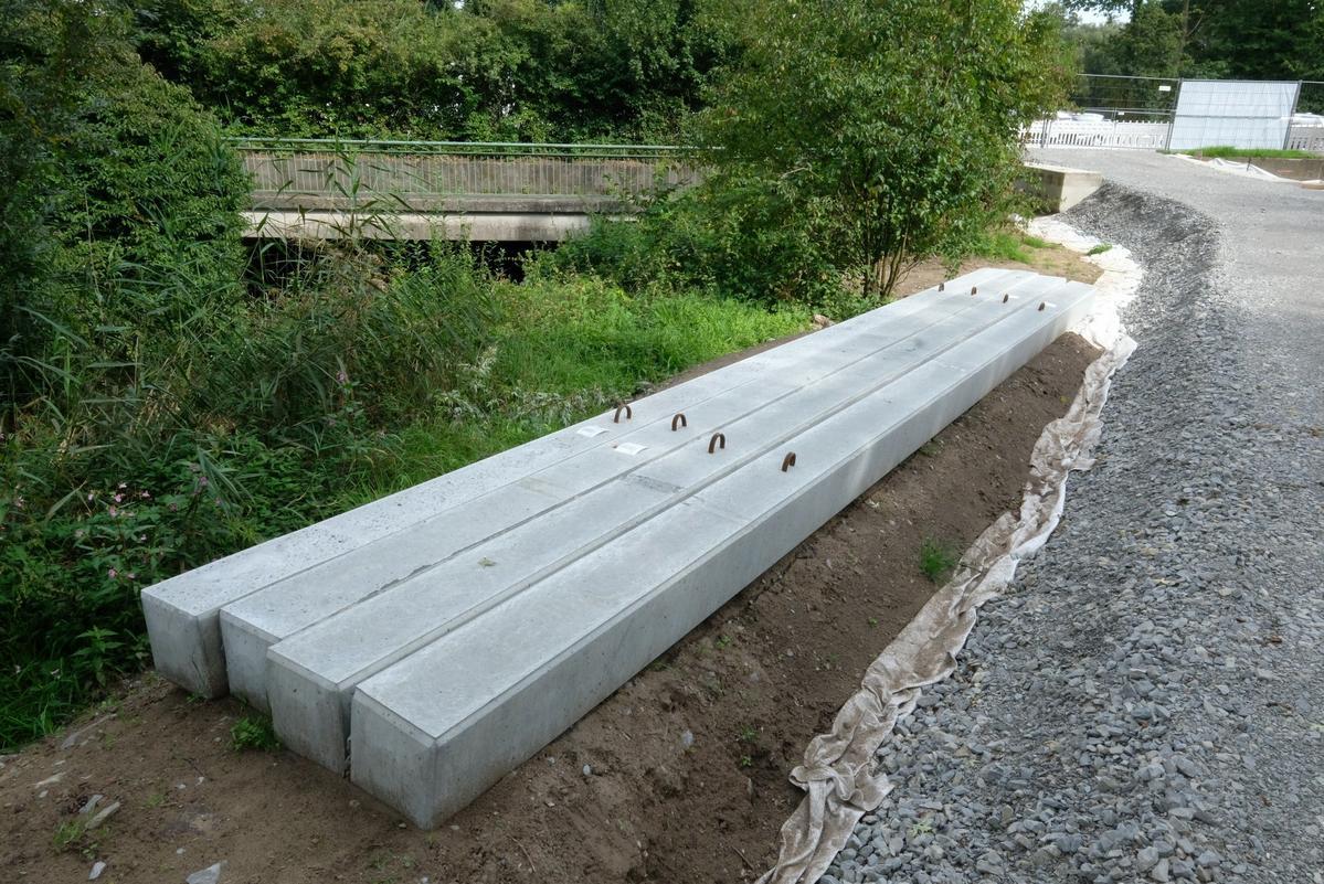 Gründungsarbeiten für Brücke am Gütersloher Westring Foto: Dinkels