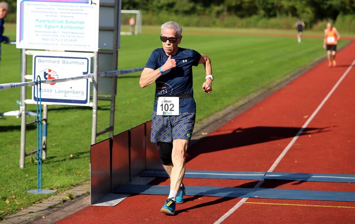 Gertrud Nau aus Werl war die älteste Starterin im Teilnehmerfeld. Fotos: Kreisel